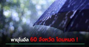 พายุโนอึล ครอบคลุมเกือบทั่วทุกพื้นที่ ของประเทศไทย