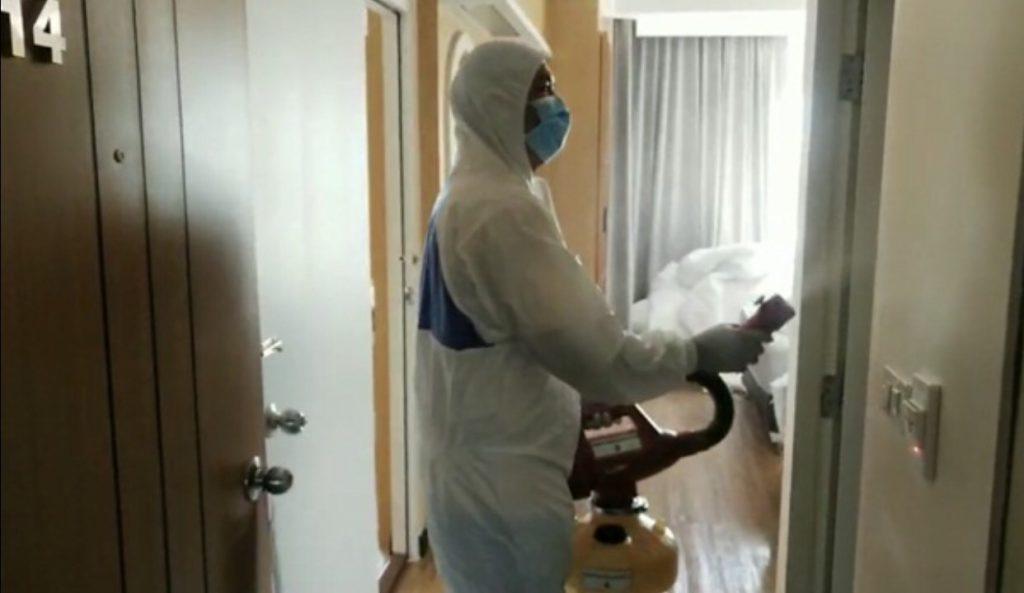 ทำความสะอาด ห้องพักที่โรงแรมหลังจัดงานแต่งช่วงโควิด